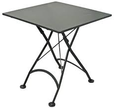 small outdoor folding table french bistro x inch square steel outdoor folding table black small round