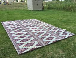outdoor patio rug 9x12 rv camping picnic mat reversible outdoor patio material