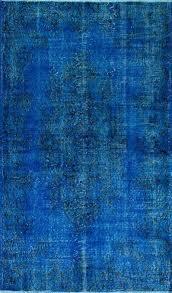 overdyed vintage rug blue rug ft navy blue color vintage rug by blue rug blue blue overdyed vintage rug