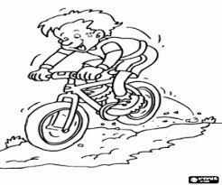 Kleurplaat Mountain Bike Afdaling Kleurplaten