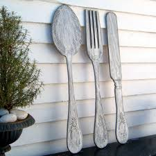 image of large fork and spoon wall decor traditional