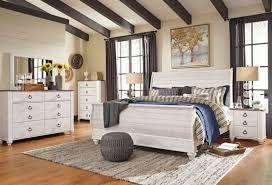 Ashley Furniture B267 Willowton - White Queen King Sleigh Bed Frame ...