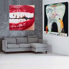 interior dental wall art and orthodontist decals vinyl for 18 from dental wall art on dental hygienist wall art with dental wall art encourage hd print 5 pcs canvas painting modern home