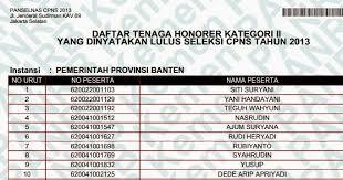 Lulus tes cpns itu merupakan impian semua peserta tes yang ikut dalam seleksi cpns setiap tahunnya namun bagiku itu merupakan impian baiklah semuanya akan kucoba ditulis disini agar bisa bermanfaat bagi yang membacanya nanti yakni mengenai tips dan trik lulus tes cpns murni tanpa. Daftar Peserta Lulus Tes Cpns Honorer K2 Provinsi Banten Dan 4 Provinsi Di Sulawesi Liputan Pendidikan