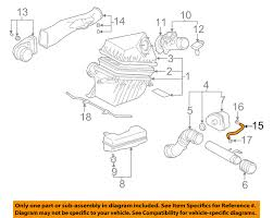 toyota 2 7l engine diagram toyota automotive wiring diagrams toyota oem 95 04 tacoma 2 7l l4 air cleaner intake by