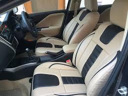 Honda Amaze Seat Cover Designs Autofact Af07 Pu Leather Car Seat Covers Compatible For Honda Amaze Beige Black