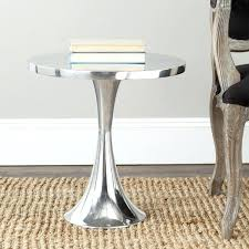 hammered metal side table round