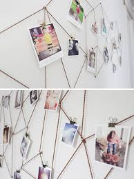 diy wall decor for bedroom. Where To Buy DIY Geometric Web Photo Wall Hanging - Photos Display Idea, Bedroom Diy Decor For