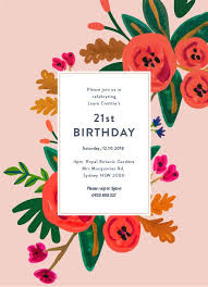 B Day Invitation Cards 21st Birthday Invitations Customize And Print Online With
