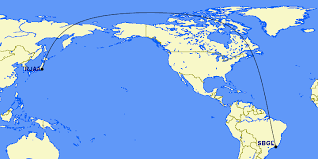 Gc Geodesic Route Sbgl To Rjaa Gig To Nrt On Conformal