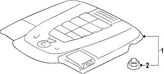 parts com® lexus ls460 engine appearance cover oem parts 2015 lexus ls460 f sport v8 4 6 liter gas engine appearance cover