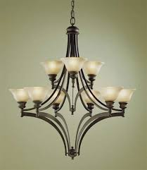 murray feiss pub 9 light multi tier chandelier in oil rubbed bronze finish
