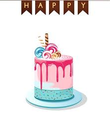 Birthday Cake Vector Png At Getdrawingscom Free For Personal Use