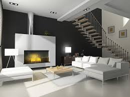 a bio ethanol fireplace in a large room