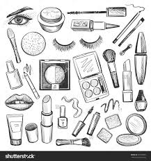 brushes clip art 57 sketch pin drawn makeup vine 9 makeup face