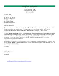 Film Production Assistant Cover Letter Sample Film Cover Letter Under Fontanacountryinn Com