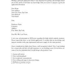 Cover Letter High School Student Example Tomyumtumweb Com