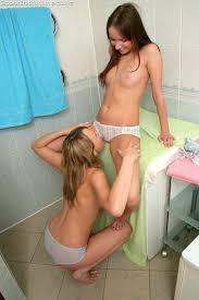 Wet lesbian panty licking