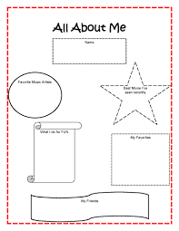 Small Picture All About Me Coloring Page Pages AZ Best Of Worksheets
