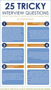tricky interview questions and how to answer them org infographic 10 of 25 tricky interview questions