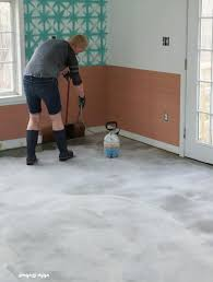 Image Stained Concrete Spraying On The Stain Semigloss Design The Beginners Guide To Diy Stained Concrete Step By Step Tutorial