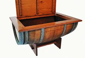 wine barrel table tempered glass