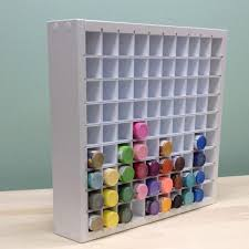 An organizer to hold all of those acrylic paint bottles. The Acrylic Paint  organizer neatly holds 90 of the standard 2 oz. paint bottles and is one of  our ...