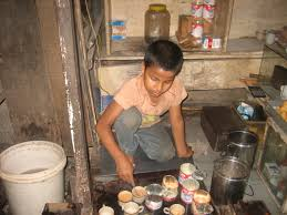 child is working in small tea stall child labour child labour1