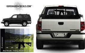 Truck or SUV gun stickers that simulate a firearm
