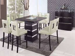 minimalist dining room dining tables extraordinary bar height table set modern style counter chairs room with black finished square glass for lamp the