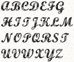 full 3881 AlphabetScript4inchStencil 1