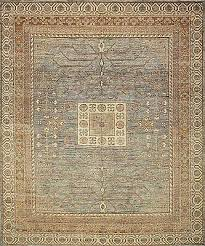 traditional hand knotted oriental chobi area rug grey gold turkish rugs 8 x 10