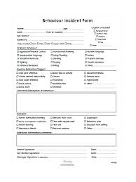 Free Incident Report Template Business Accident Log Book Behaviour