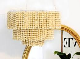 to enlarge image diy wooden bead chandelier hero jpg