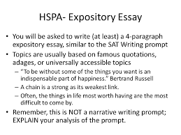 hspa expository essay you will be asked to write at least a  hspa expository essay you will be asked to write at least a 4