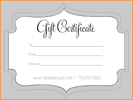 free gift certificate template for microsoft