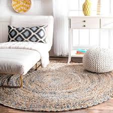 D Jute Rug Living Room Astonishing Overstock Round Rugs Braided Natural Fiber  8 Free