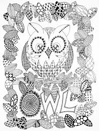 Small Picture Halloween zentangle owl Halloween Coloring pages for adults