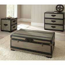 leather steamer trunk coffee table new storage trunks for living room palesten of leather steamer trunk