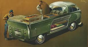 Volkswagen Pick-Up Truck (1952): Graphic by Bernd Reuters ...
