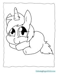 Cute Unicorn Coloring Pages 5 18271