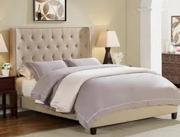 5269 Q HBFB MAYES QUEEN BED BEIGE TUFTED COLLECTION by Crown Mark