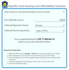calculator house loan how to apply pag ibig housing loan 2019 filipino guide