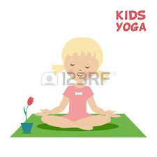 carpet time clipart. yoga carpet: the child is engaged in kids yoga. little girl exercise on carpet time clipart