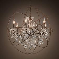 preferred chandeliers design magnificent rustic orb chandelier crystals within globe crystal chandelier gallery 5