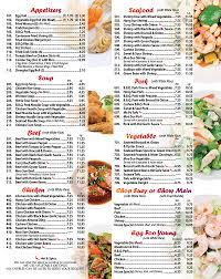 Los China Kitchen Menu 1