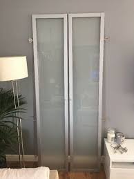 glass doors for billy bookcase silver