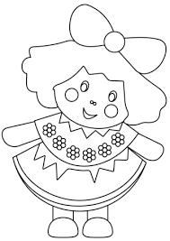 Disegni Da Stampare Gratis Con Disegno Di Bambola Da Colorare