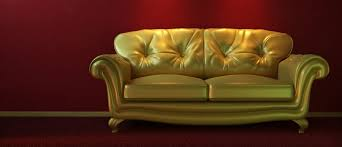 eclectic gold sofa