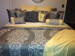 Image Gardens My Yellow And Gray Bedding Pinterest My Yellow And Gray Bedding Home Bedroom Decor Bedroom Home